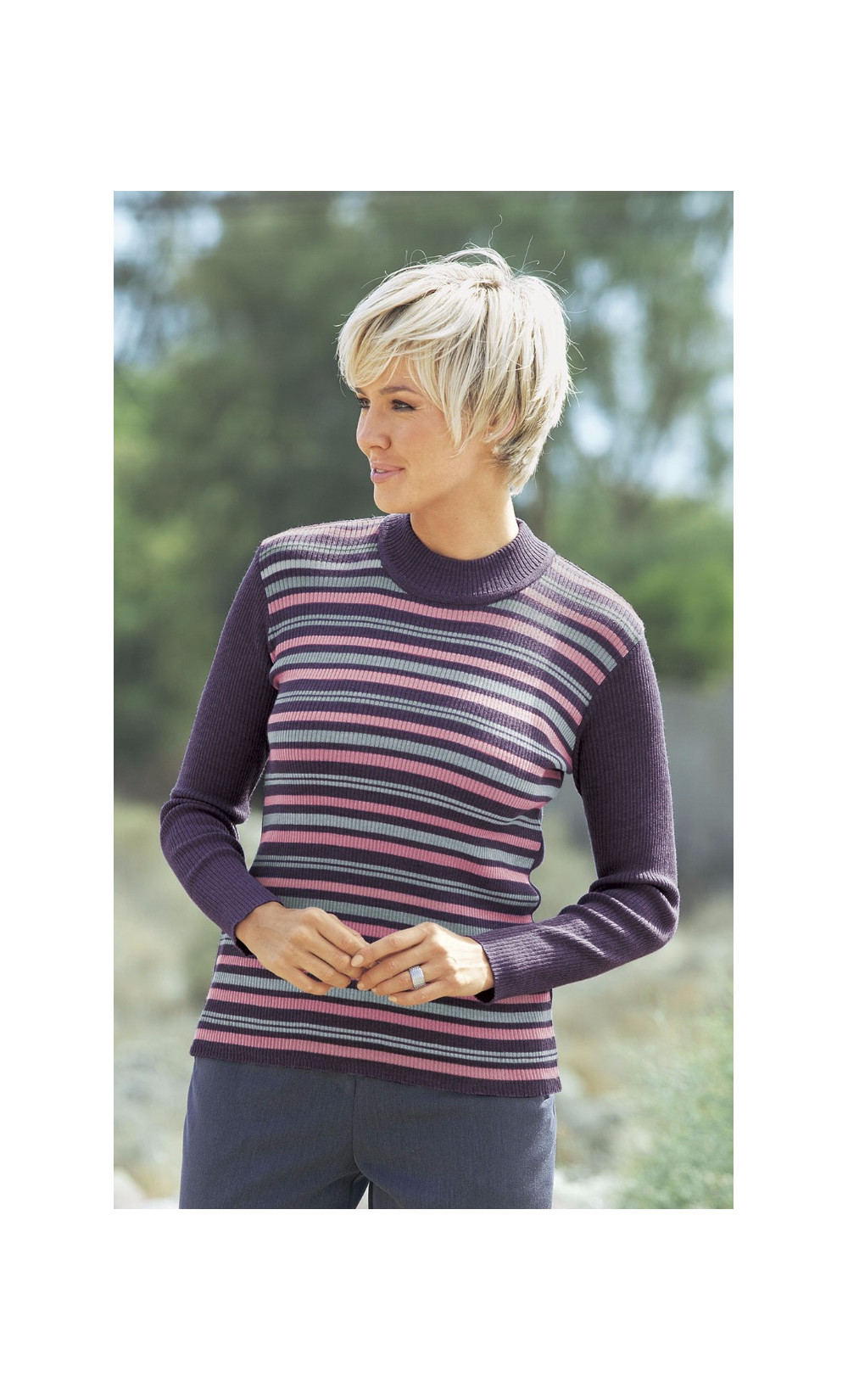 pull col montant - PORCELAINE